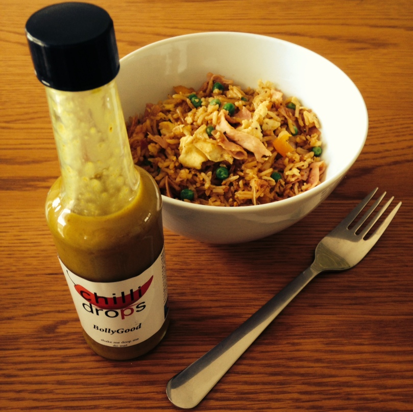 Chilli Drops 'Bolly Good' Sauce with Egg Fried Pilau Rice