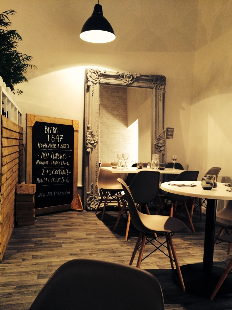 Bistro 1847, Manchester: Amazing food, super-cool decor, warm & intimate atmosphere