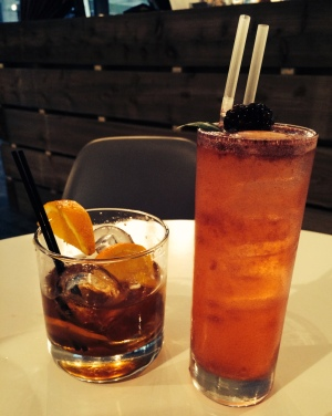 His & Hers Cocktails - the Maple & Orange 'Old Fashioned' and the 'Bistro Bastillia'