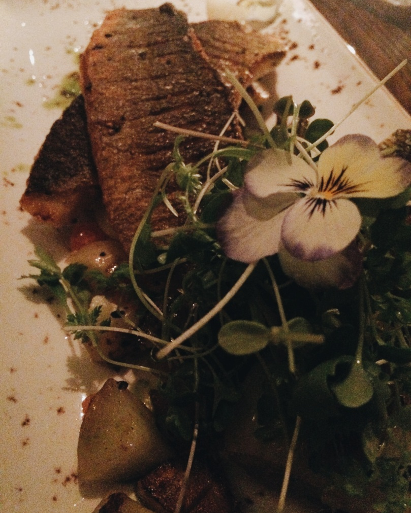 Seared Sea Bass - beautifully presented