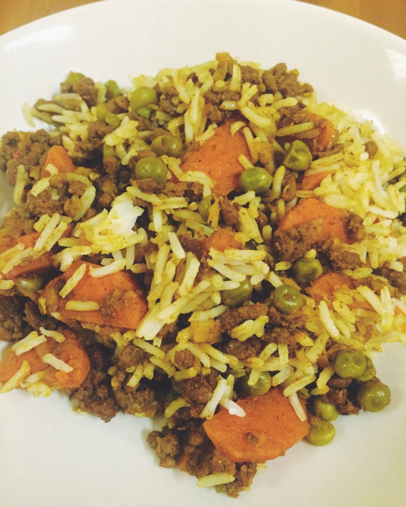 Alternative serving suggestion - mix the a portion of the curry and rice together, for a biryani style dish - perfect for leftover lunch!