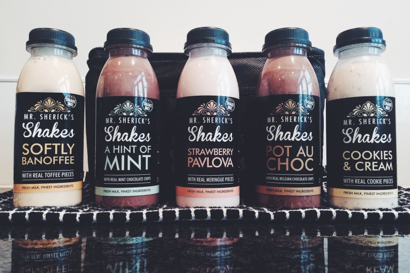 Mr Sherick's Shakes - the full range in all their glory.