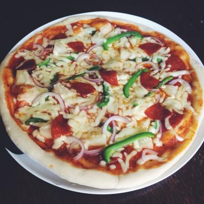 Homemade Stonebaked Pepperoni Pizza