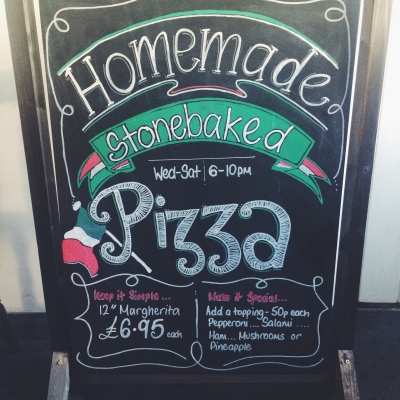 Homemade Stonebaked Pizzas on offer at The Hawk Inn