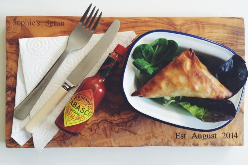 Spicy King Prawn Empanadas made with Filo pastry & Tabasco Habanero