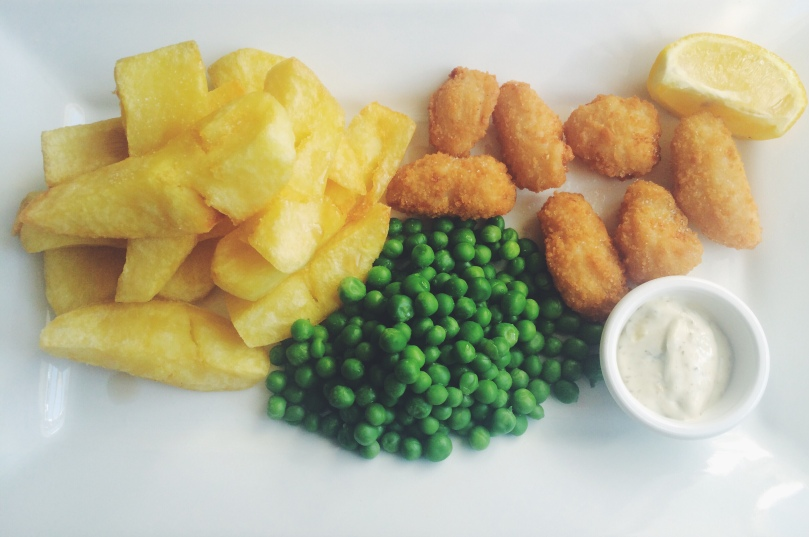 Traditional Scampi & Chips - a pub classic favourite