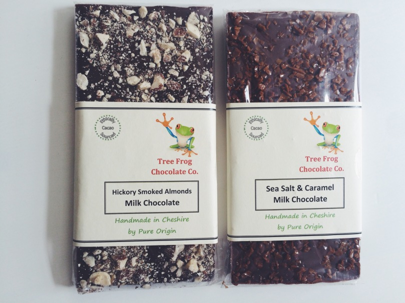 Artisan Milk Chocolate: Sea Salt & Caramel and Hickory Smoked Almonds