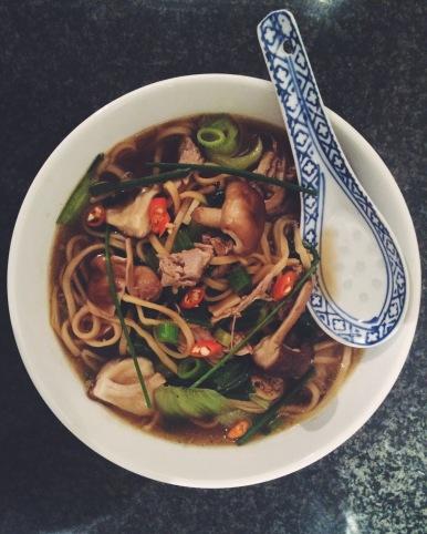 Gizzi Erskine's Roast Duck & Noodle Soup
