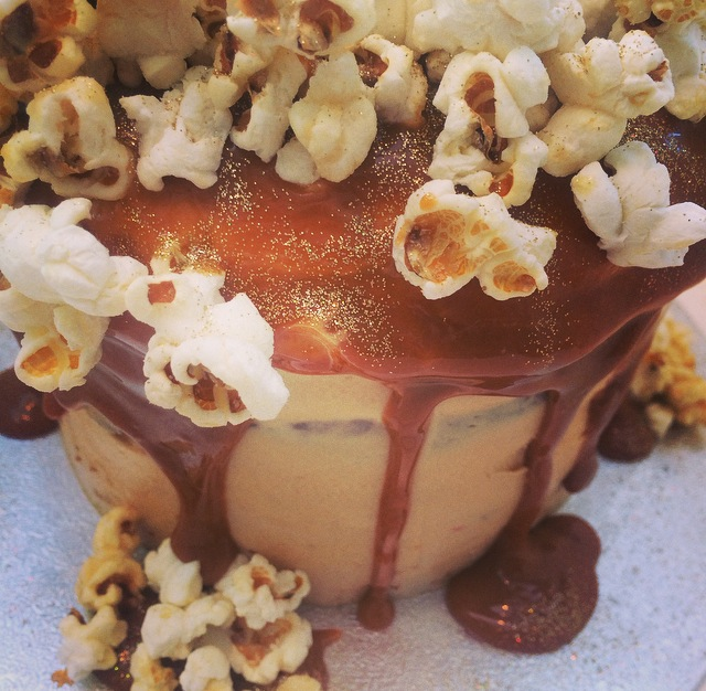 Salted Caramel & Popcorn Cake