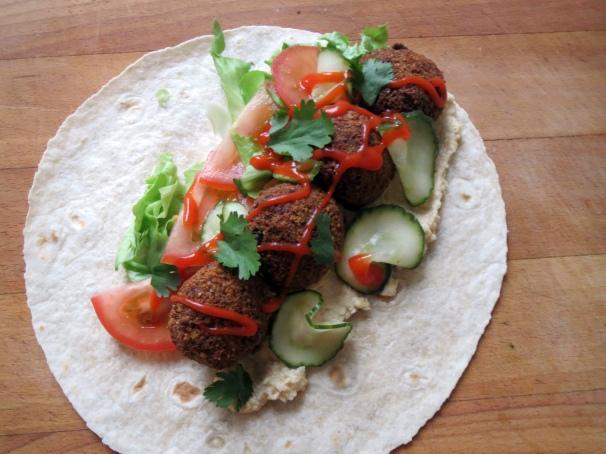 HUSSS Sandwich Co. Falafel Wrap