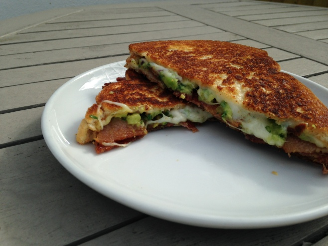 HUSSS Sandwich Co. Bacon, Guacamole Grilled Cheese