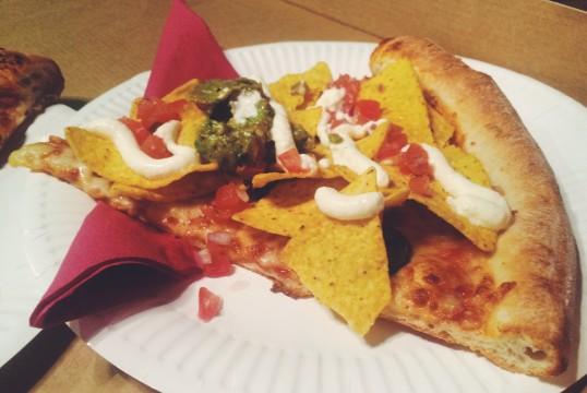 Nacho Libre (V), Chilli sauce, American Cheese, Jalapeño, Tortilla Chips, Guacamole, Sour Cream and fresh Pico de Gallo - HELL YES
