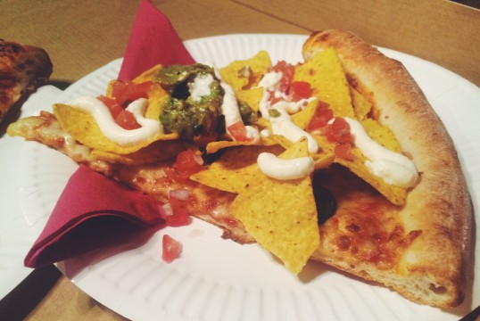 Nacho Libre (V), Chilli sauce, American Cheese, Jalapeño, Tortilla Chips, Guacamole, Sour Cream and fresh Pico de Gallo - HELL YES